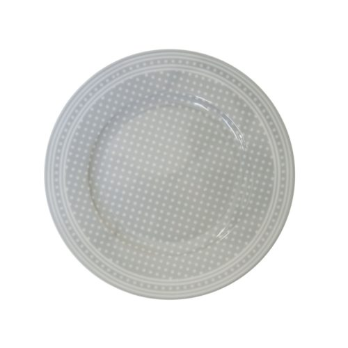 Krasilnikoff Teller Micro Dots Grey