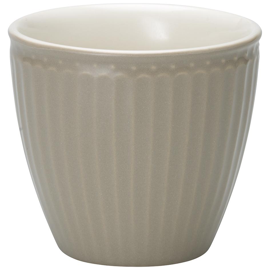 GreenGate Latte Cup Becher Alice Warm Grey