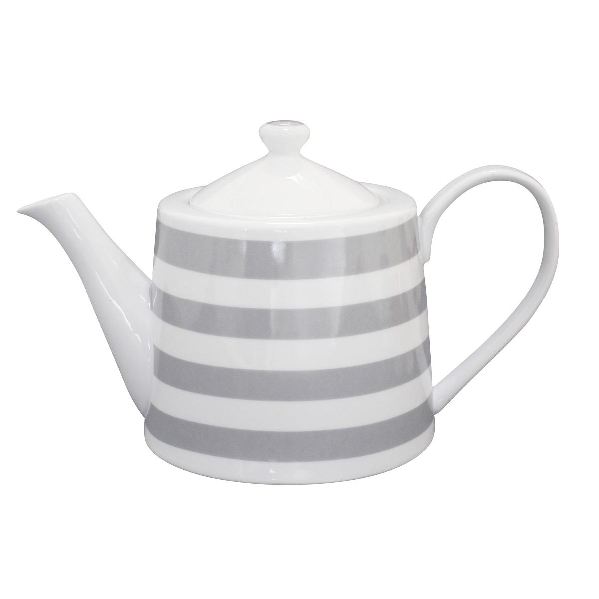 Krasilnikoff Teekanne Stripes Grey