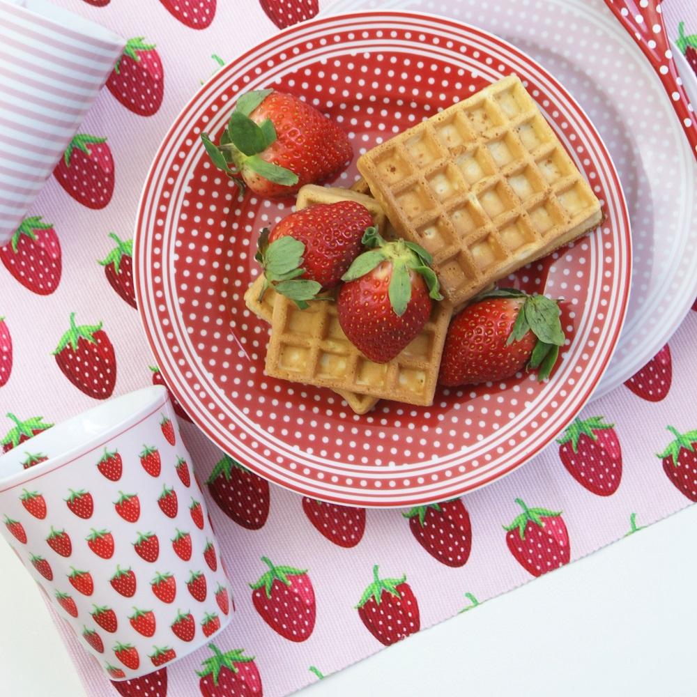 Krasilnikoff Happy Mug Becher Strawberry