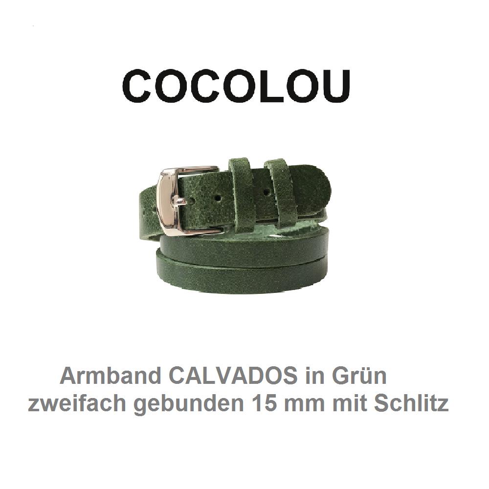 COCOLOU Armband CALVADOS in Grün