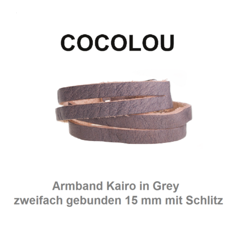 COCOLOU Armband Kairo in grey