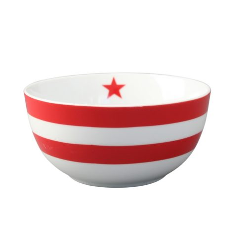 Krasilnikoff schüssel Happy Bowl Red Stripes
