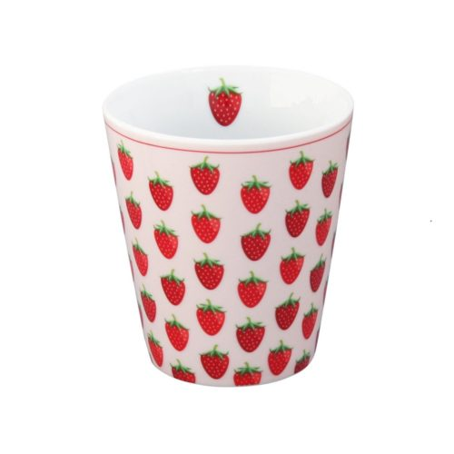 Krasilnikoff Happy Mug Becher Strawberry