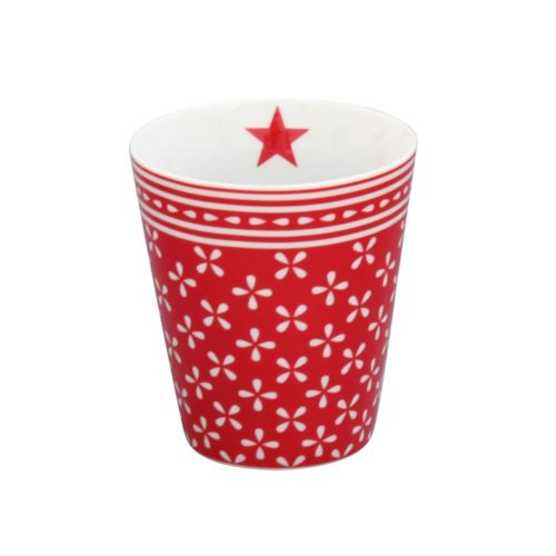 Krasilnikoff Happy Mug Becher Daisy Red