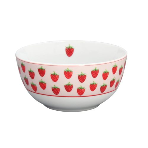 Krasilnikoff Schüssel Happy Bowl Strawberry