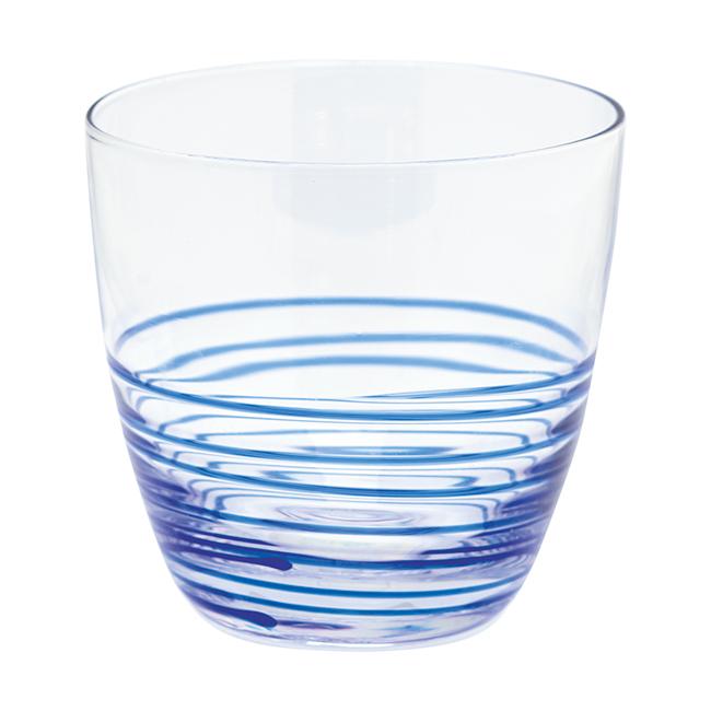 GreenGate Wasserglas Sally Indigo