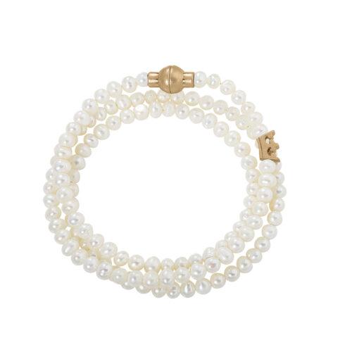 Sence Copenhagen Armband aus Süßwasserperlen mit Gold F885
