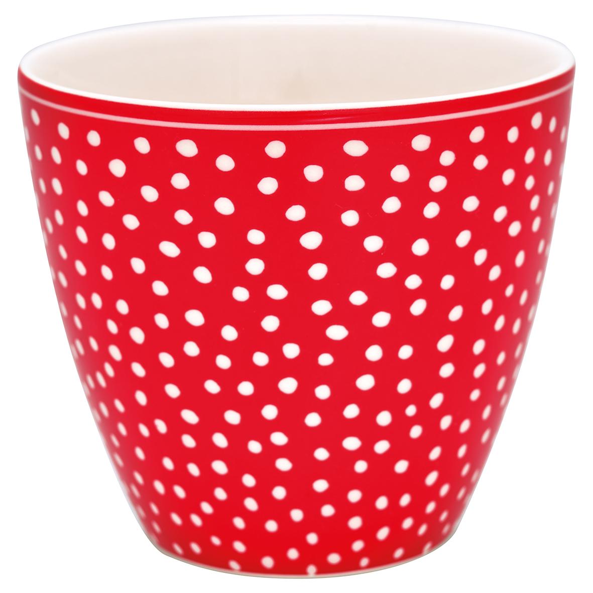 GreenGate Becher Latte Cup Dot Red
