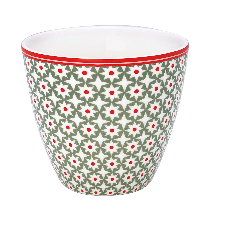 GreenGate Latte Cup Becher Lara Green