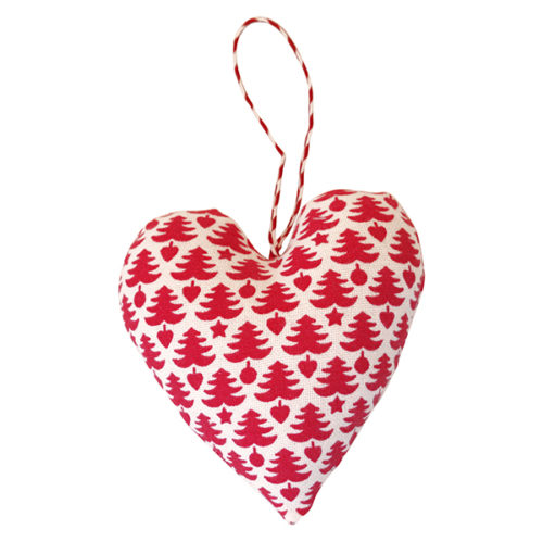 Greengate Xmas Heart With Tree White