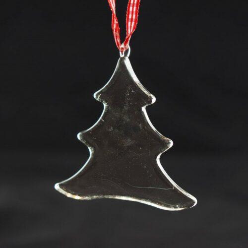 """KAHEKU Weihnachtsanhänger aus Glas """"Tanne"""" in 2 Größen"""