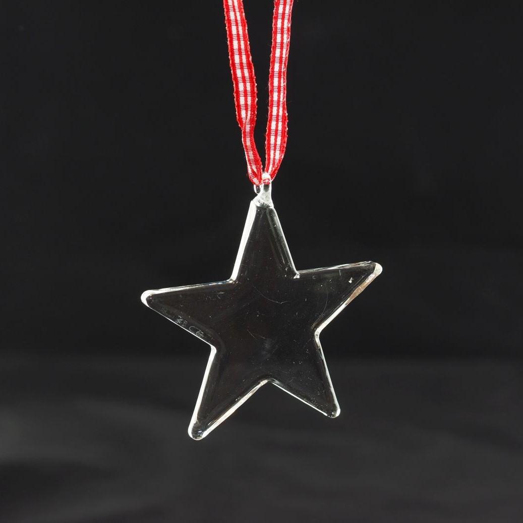 """KAHEKU Weihnachtsanhänger aus Glas """"Stern"""""""