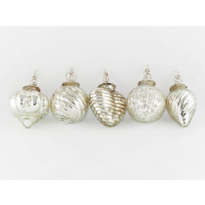 KAHEKU Weihnachtsschmuck Corona Silber