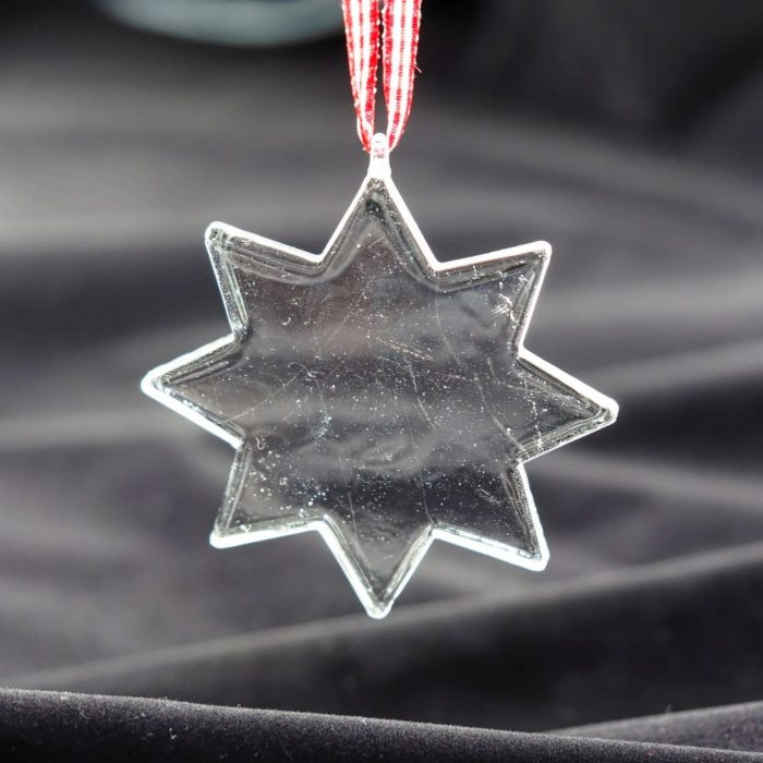 """KAHEKU Weihnachtsanhänger aus Glas """"Stern 8-zackig"""""""