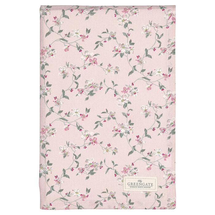 GreenGate Tischdecke Jolie Pale Pink 150 x 150 cm