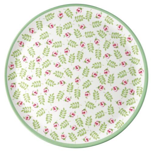 GreenGate Melamin Teller Lily Petit White 20 cm