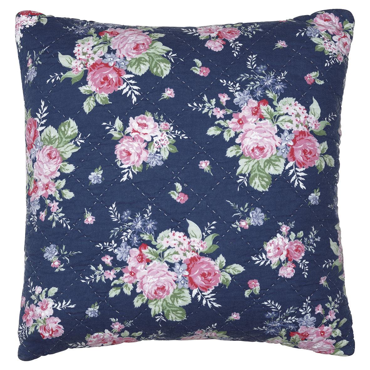 GreenGate Kissenbezug Rose Dark Blue 50x50 cm