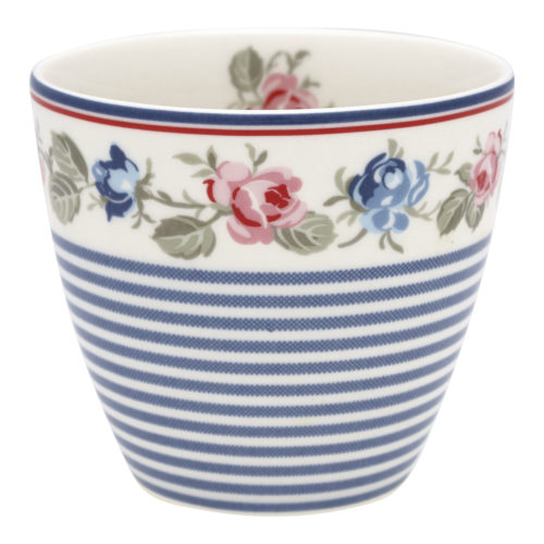 GreenGate Becher Latte Cup Hailey Stripe White