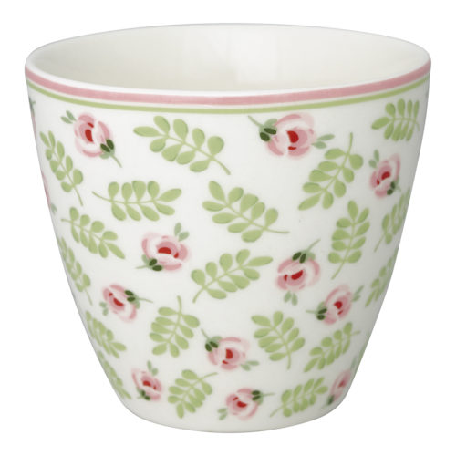 GreenGate Becher Latte Cup Lily Petit White