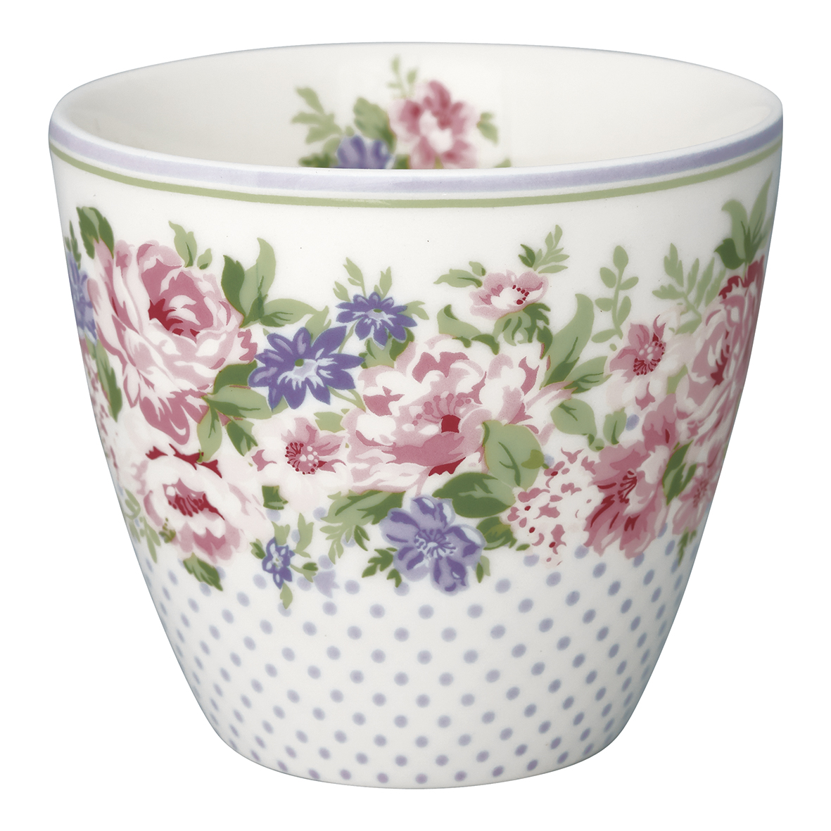 GreenGate Becher Latte Cup Rose White