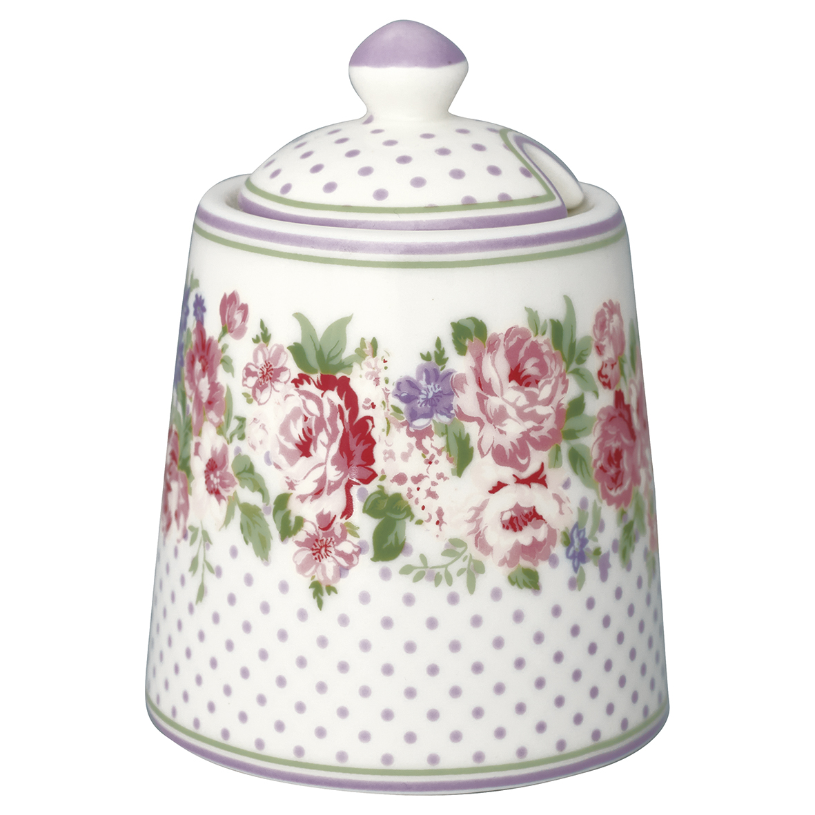 GreenGate Zuckertopf Rose White