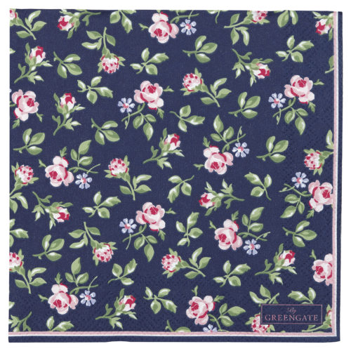 GreenGate Papierservietten Berta Dark Blue Small