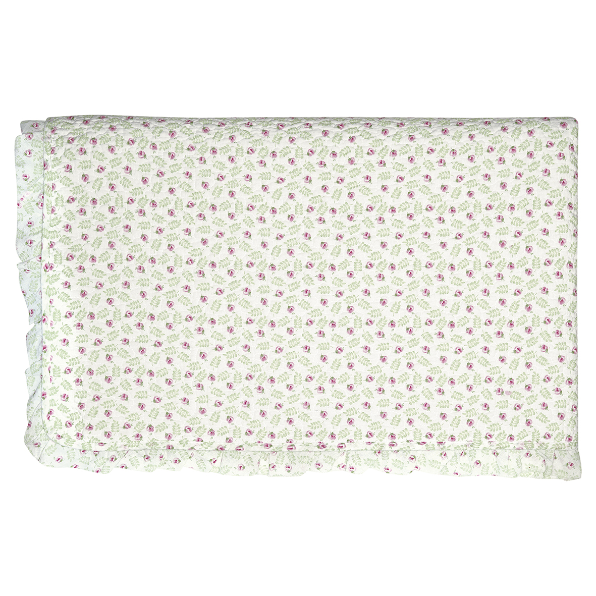 GreenGate Tagesdecke Quilt Lily Petit White mit Rüsche