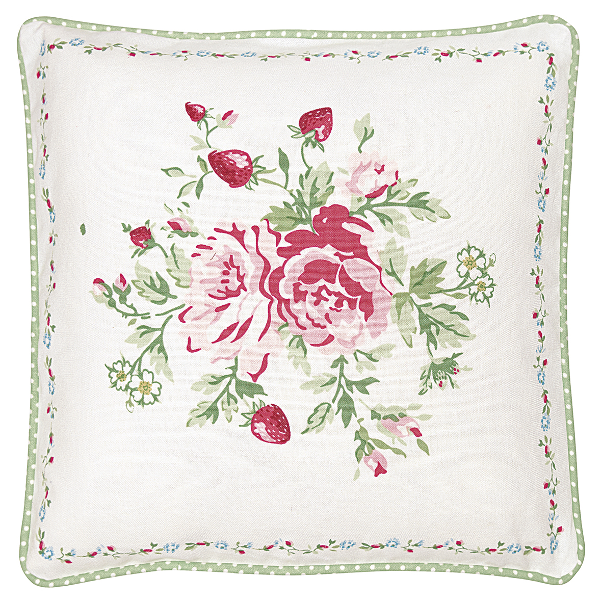 GreenGate Kissenbezug Mary White Piece Printed 40x40 cm