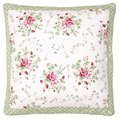 GreenGate Kissenbezug Mary White 50x50 cm