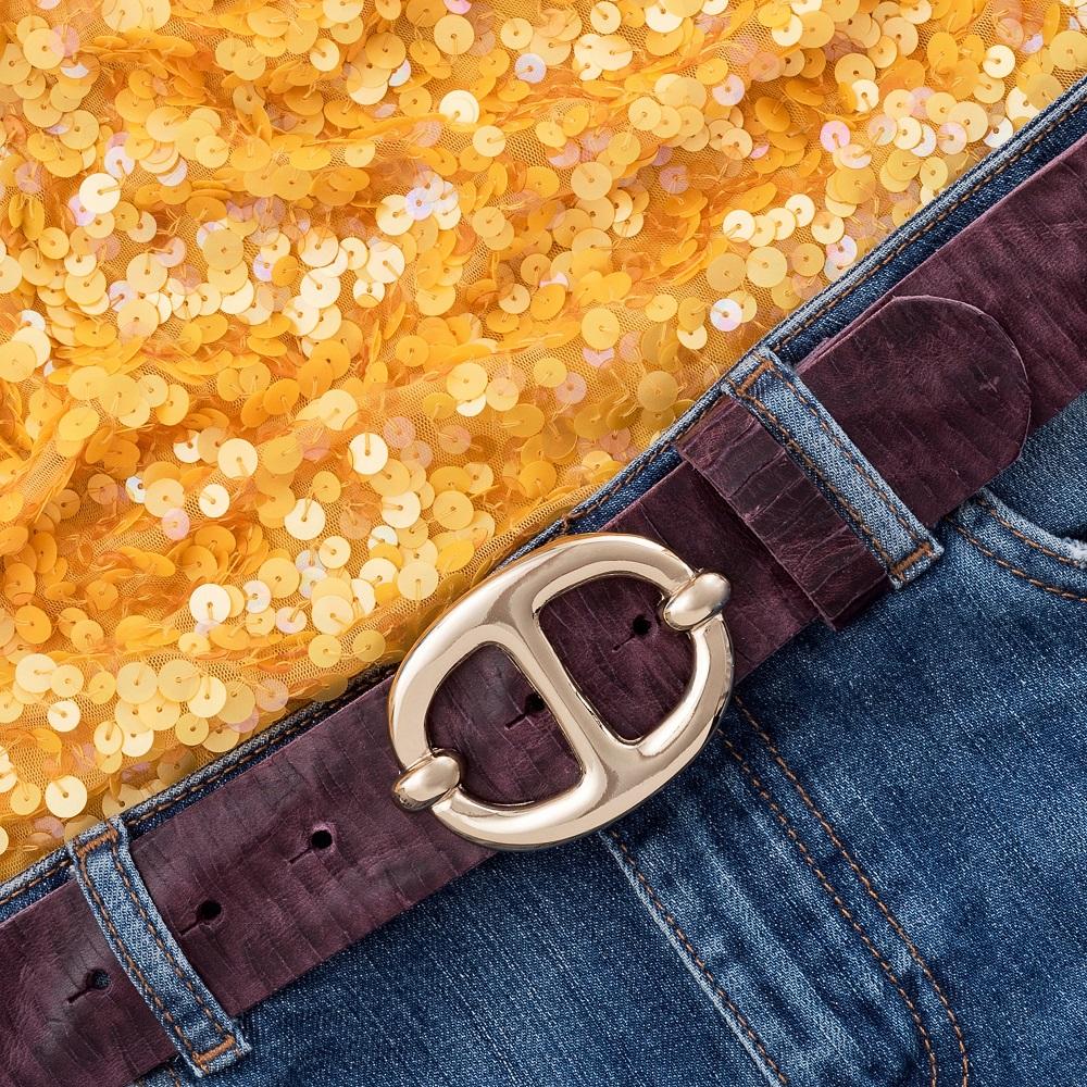 LUCA KAYZ Schließe Gold für Gürtel 4 cm