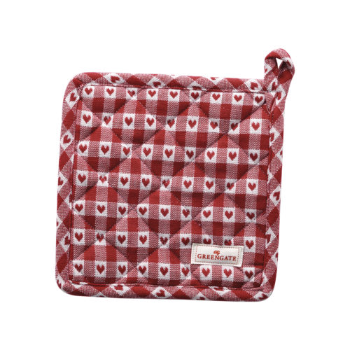 GreenGate Topflappen Heart Petit Red