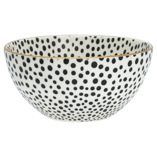 GreenGate Schüssel Dot Black/Gold M