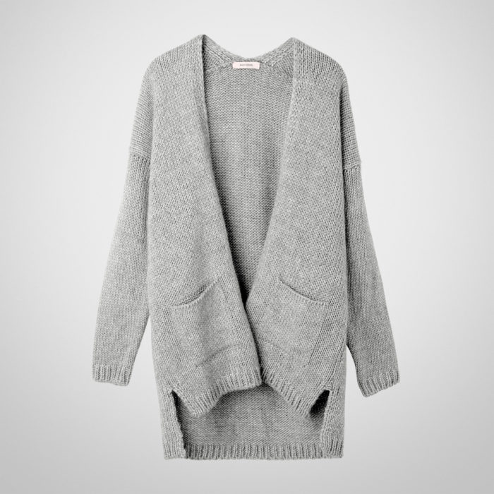 ANOTHER ME Strickcardigan HYPO Better Days in Mouse Grey