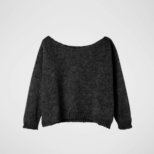 ANOTHER ME Strickpullover ALPAKA Spicy Shade in Only Black