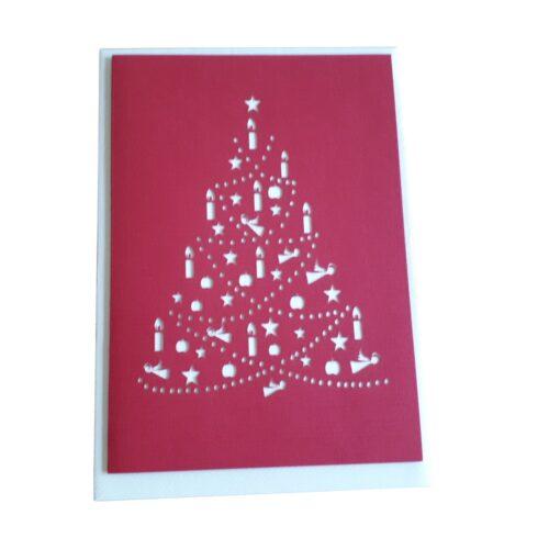 """Weihnachtskarte mit Umschlag """"Tannenbaum"""""""