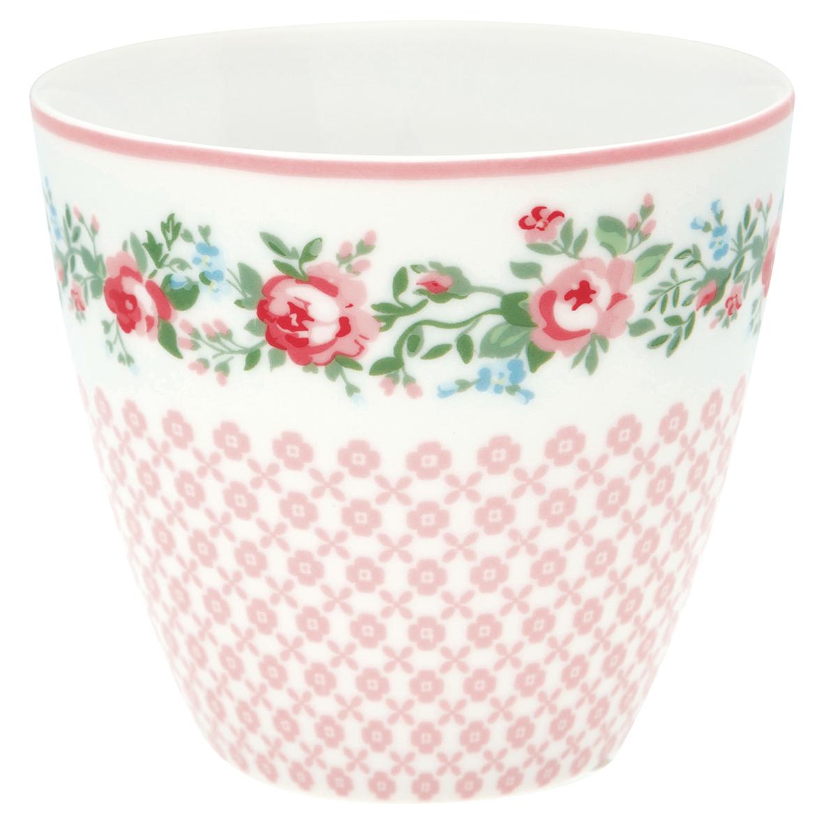 GreenGate Latte Cup Gabby White
