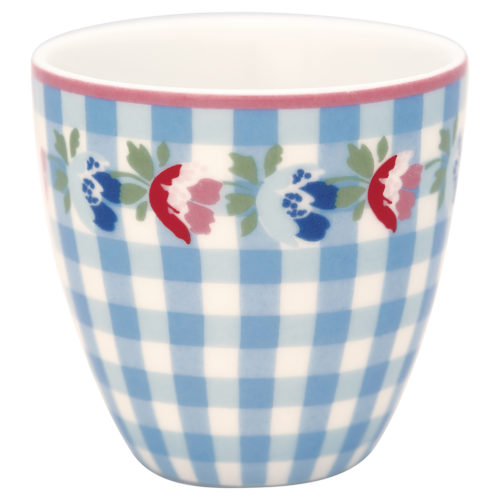 GreenGate Mini Latte Cup Viola Check Pale Blue