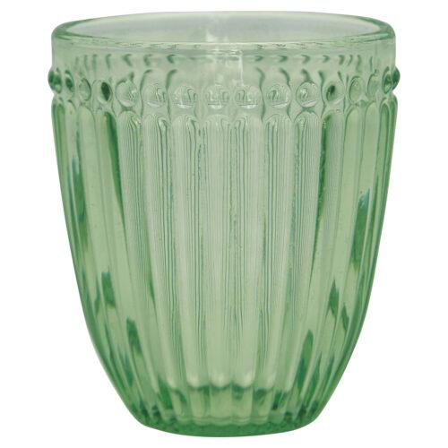 GreenGate Wasserglas Alice Pale Green