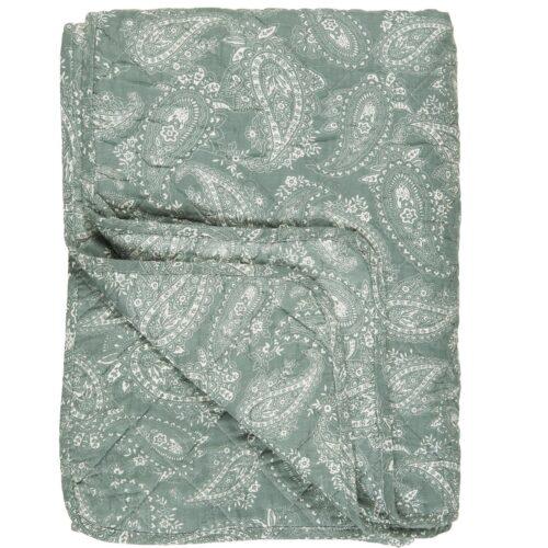 IB LAURSEN Decke Quilt Staubig Grün mit Paisley Muster