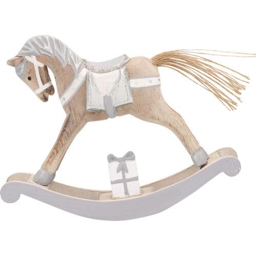 GreenGate Decoration Rocking Horse Silver M