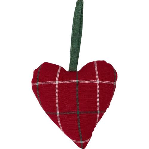 GreenGate Heart Lyla Check Red 2 pcs
